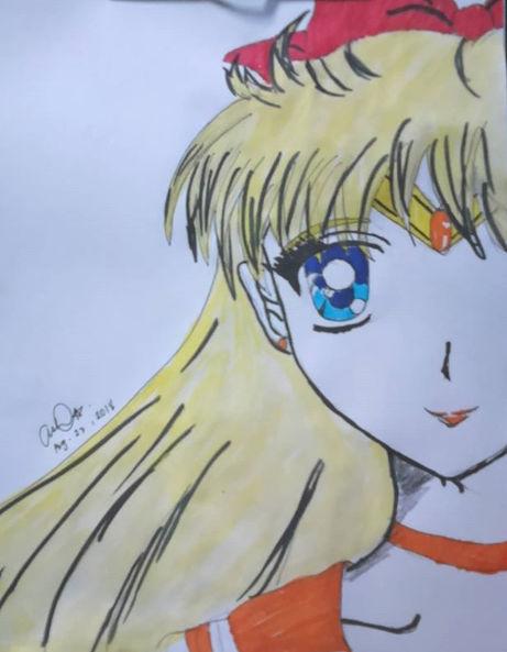 Sailor Venus half face