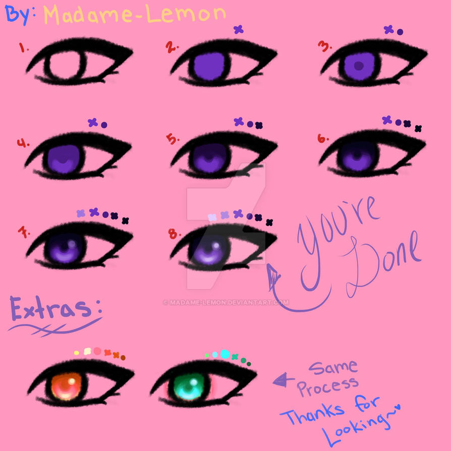 how to draw an eye in color
