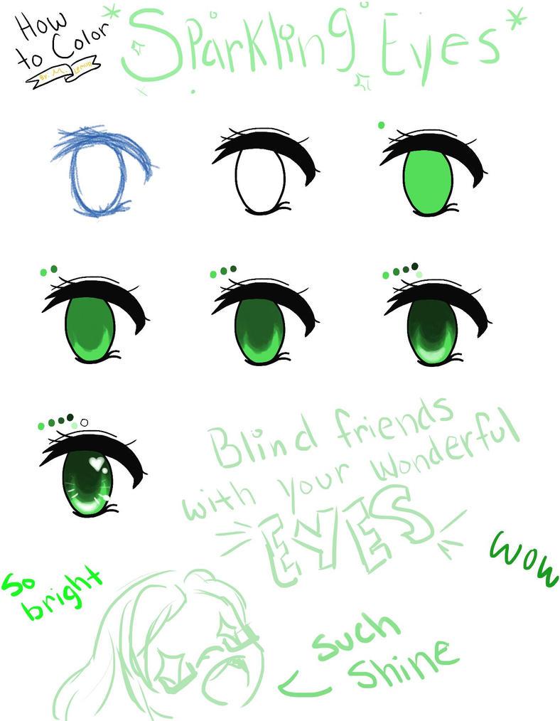 how to draw digital anime eyes