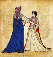 Dancing Couple 4 - Medieval by Mila-Valentine