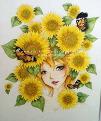 Sunflowers by DiNDiN-HiME