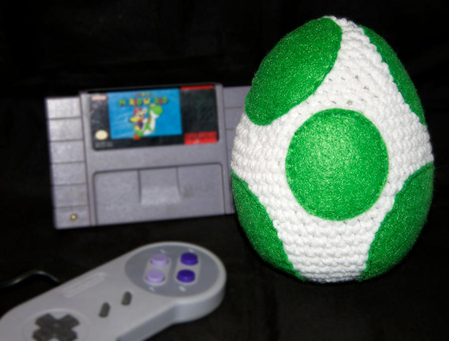 Yoshi Egg Plush by rainbowdreamfactory