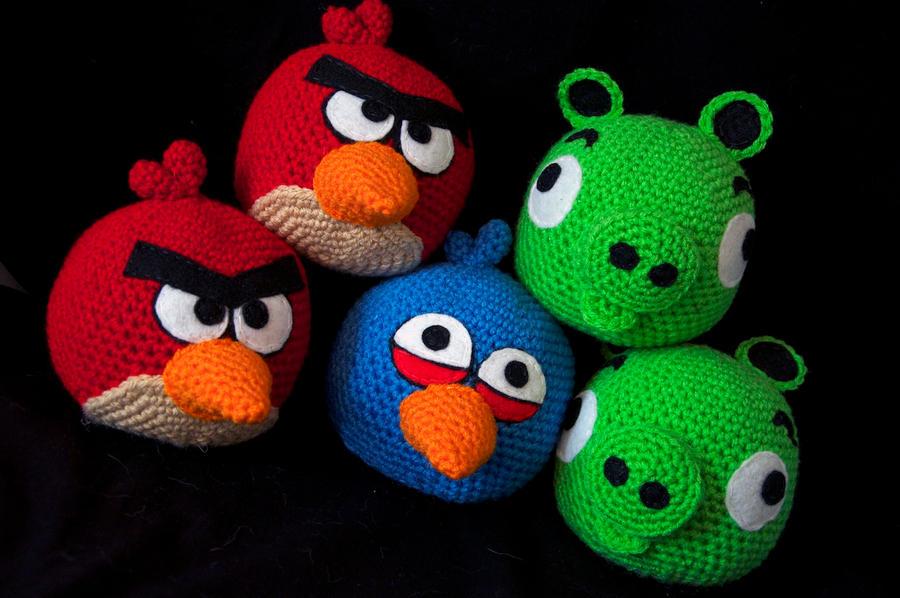 All Angry Birds Plush Toys : Angry bird plush toys by rainbowdreamfactory on deviantart