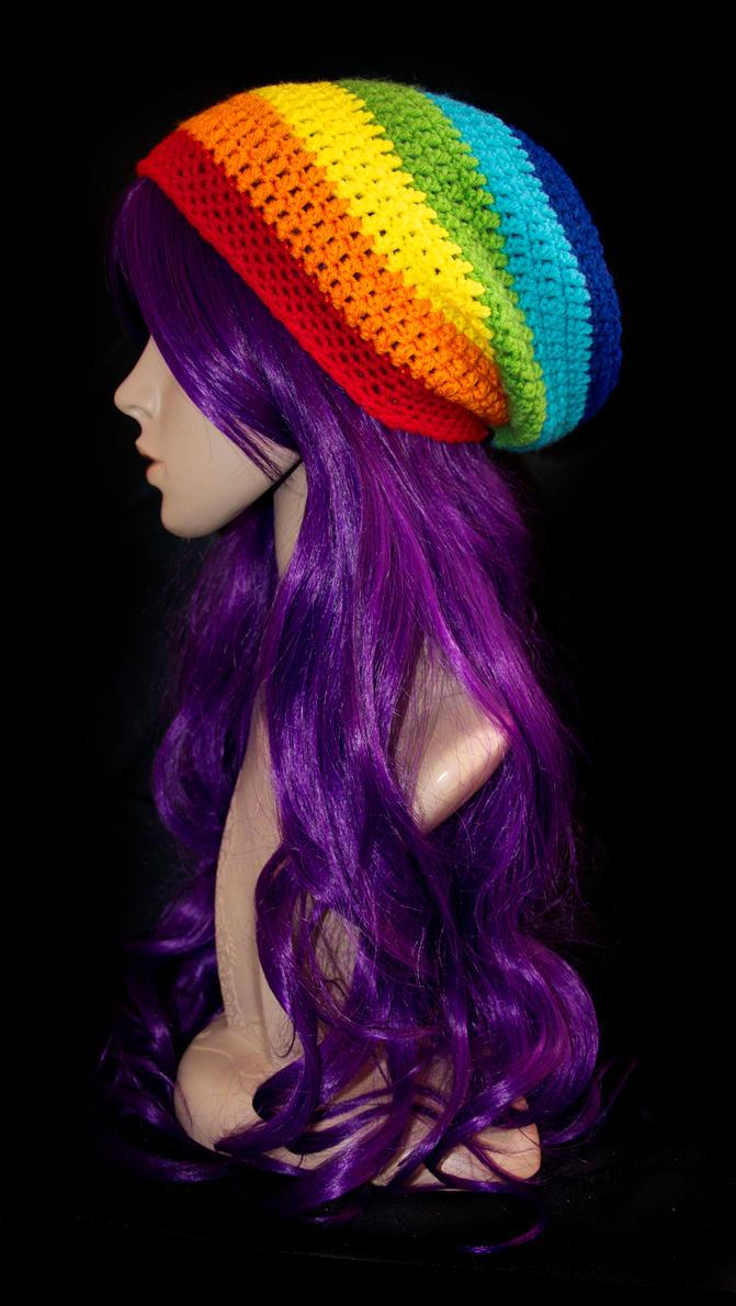 Rainbow Stripe Beanie by rainbowdreamfactory