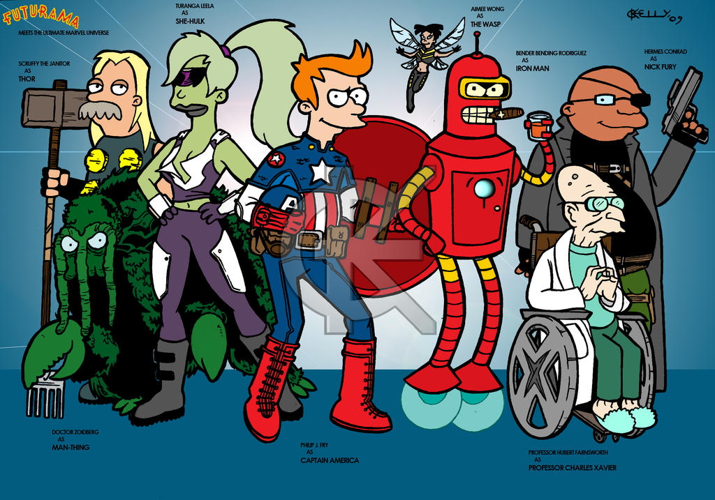 Part 14 / 8 - Page 2 Futurama_Meets_Ultimate_Marvel_by_kameleon84