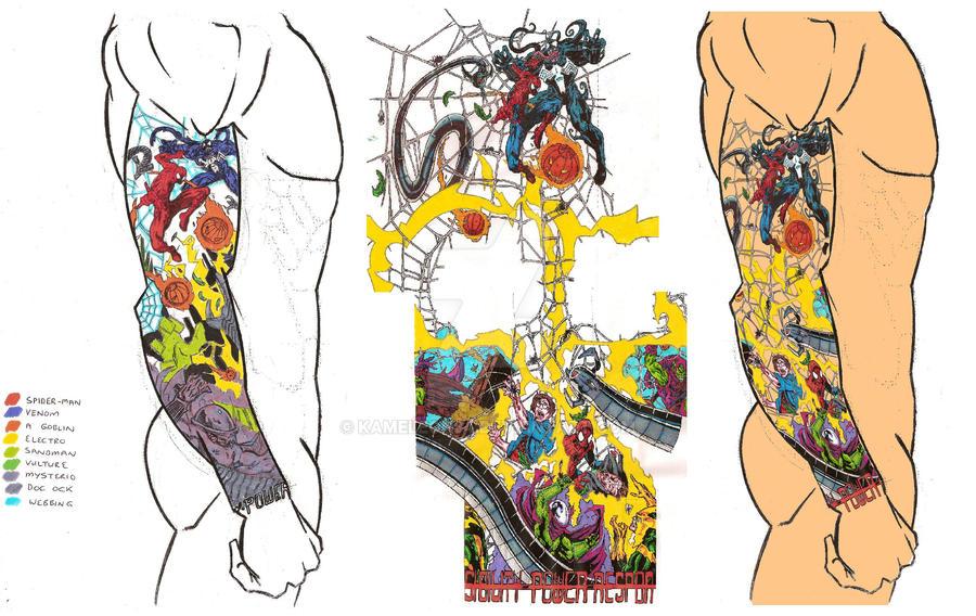 Spider-Man Tattoo Design by kameleon84 on DeviantArt