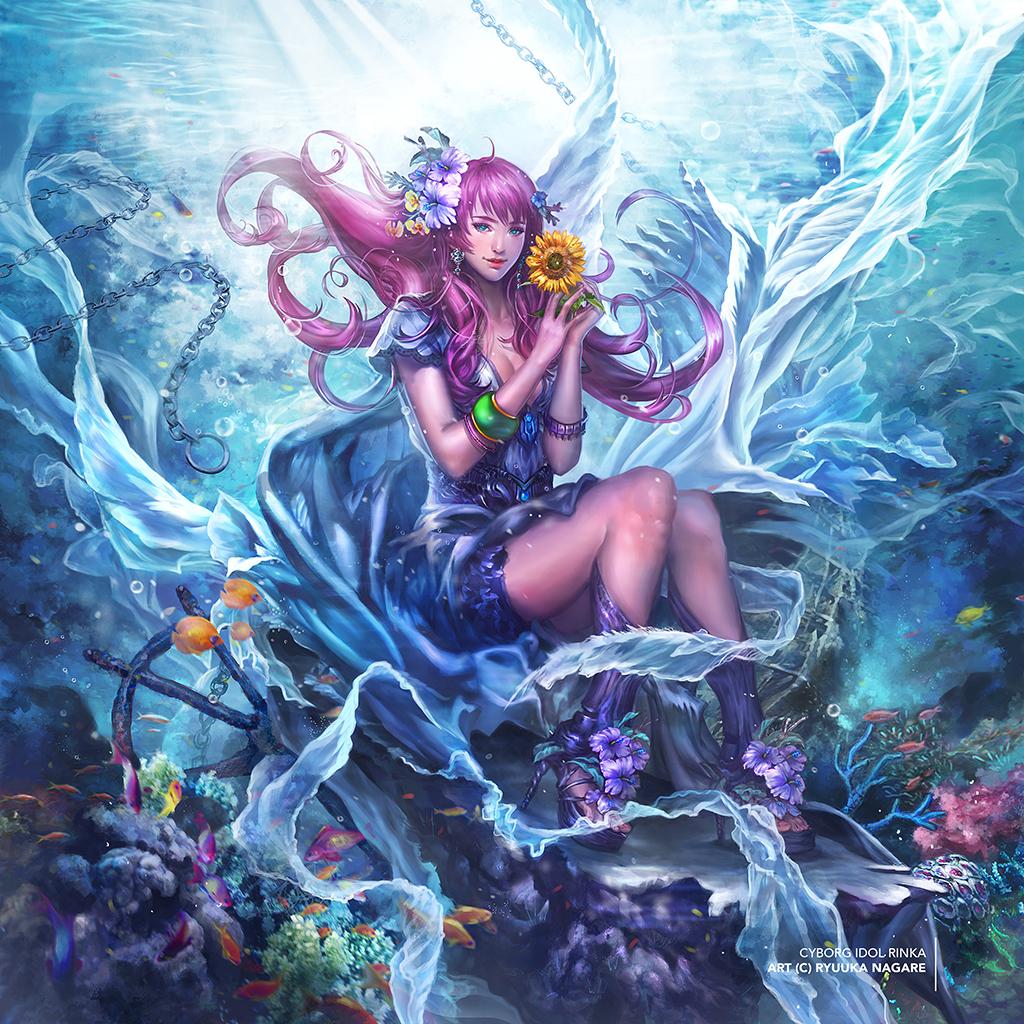 Galeria de Arte: Ficção & Fantasia 1 - Página 6 Aquatic_allure_by_ryuuka_nagare-d7xrt52
