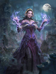 MTG: Liliana, the Necromancer by Dopaprime