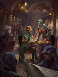 DnD: Inside the Cafe by Dopaprime