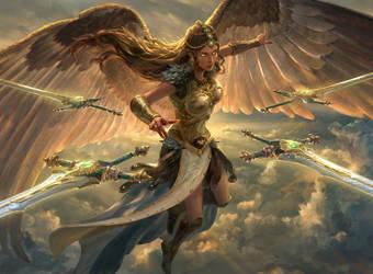Sephara, Sky's Blade by Dopaprime