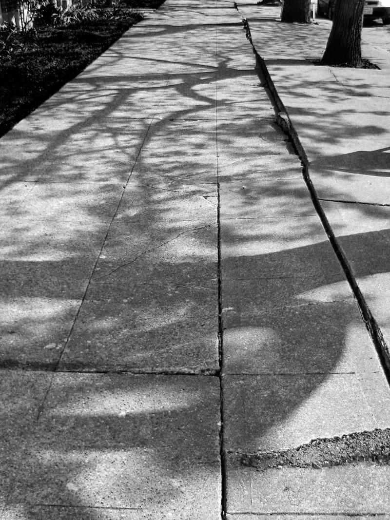 Shadowed pavement by Cericonversion