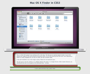 Mac OS X Finder in CSS3 by CapnGoat