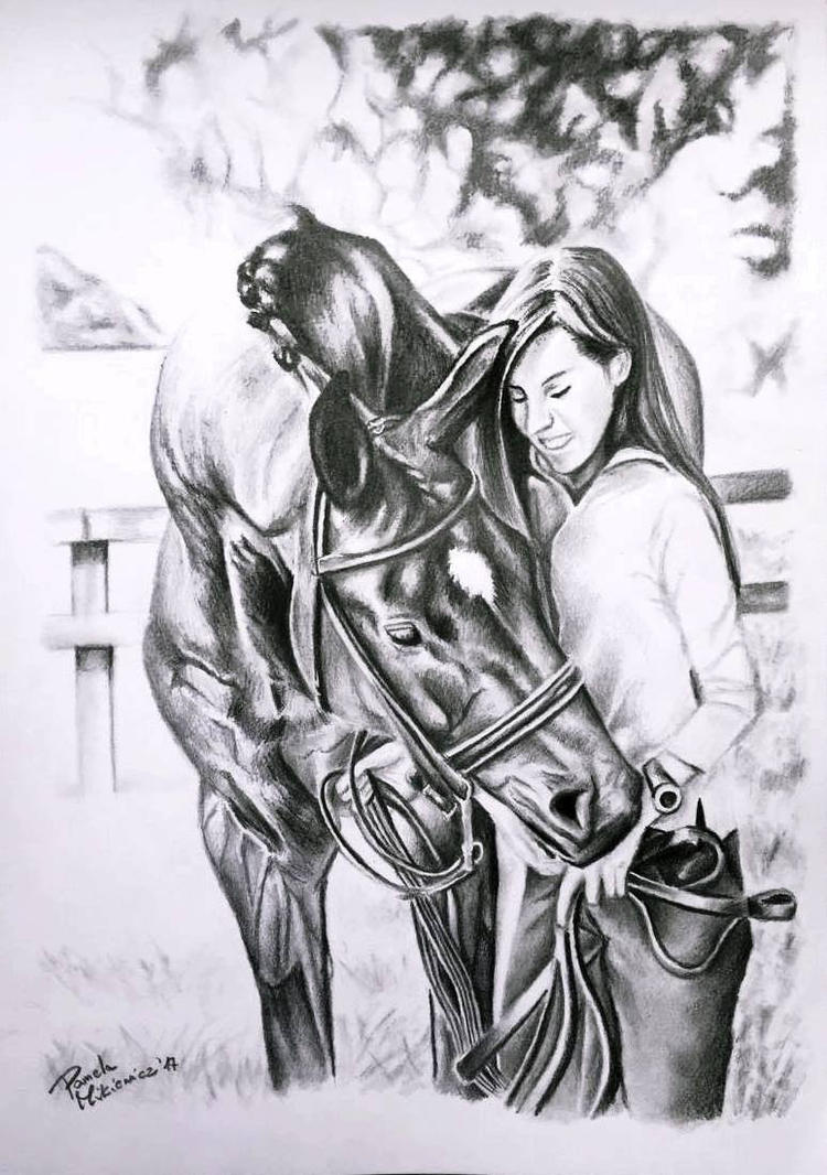 Portrait of horse and rider by 24Pamela