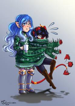 [CM] stickpge: Christmas LHC - Maddie and Xori