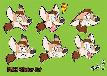 Telegram Stickers for Deko on Twitter by redwulf