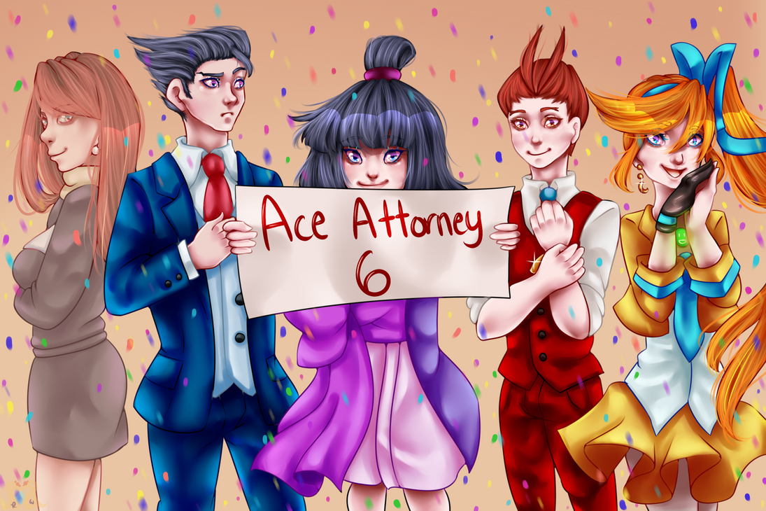 Ace Attorney 6 + Speedpaint by MikomiKisomi