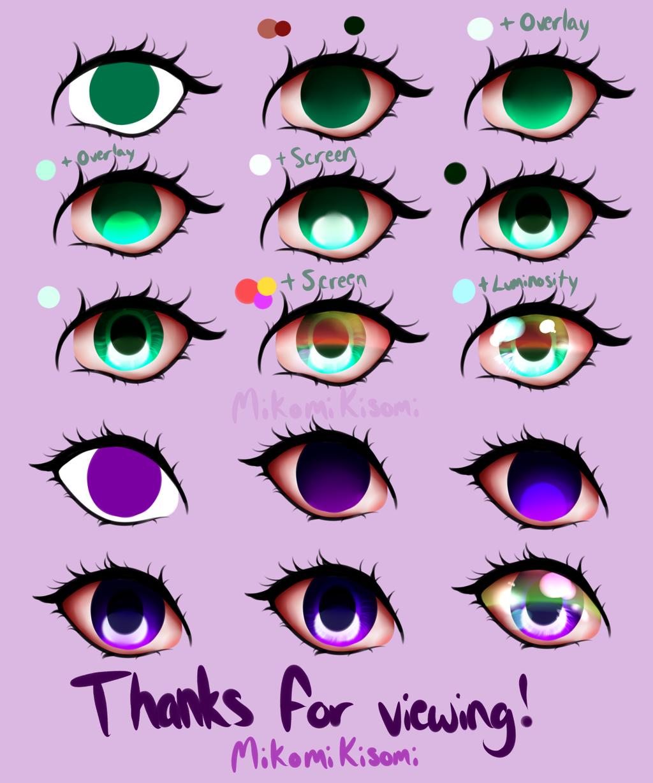 Shading Anime/Semi-realistic Eyes Process by MikomiKisomi