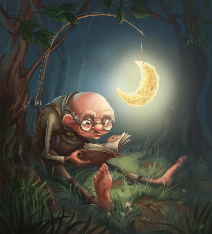 Midnight reading 2 by RosieVangelova