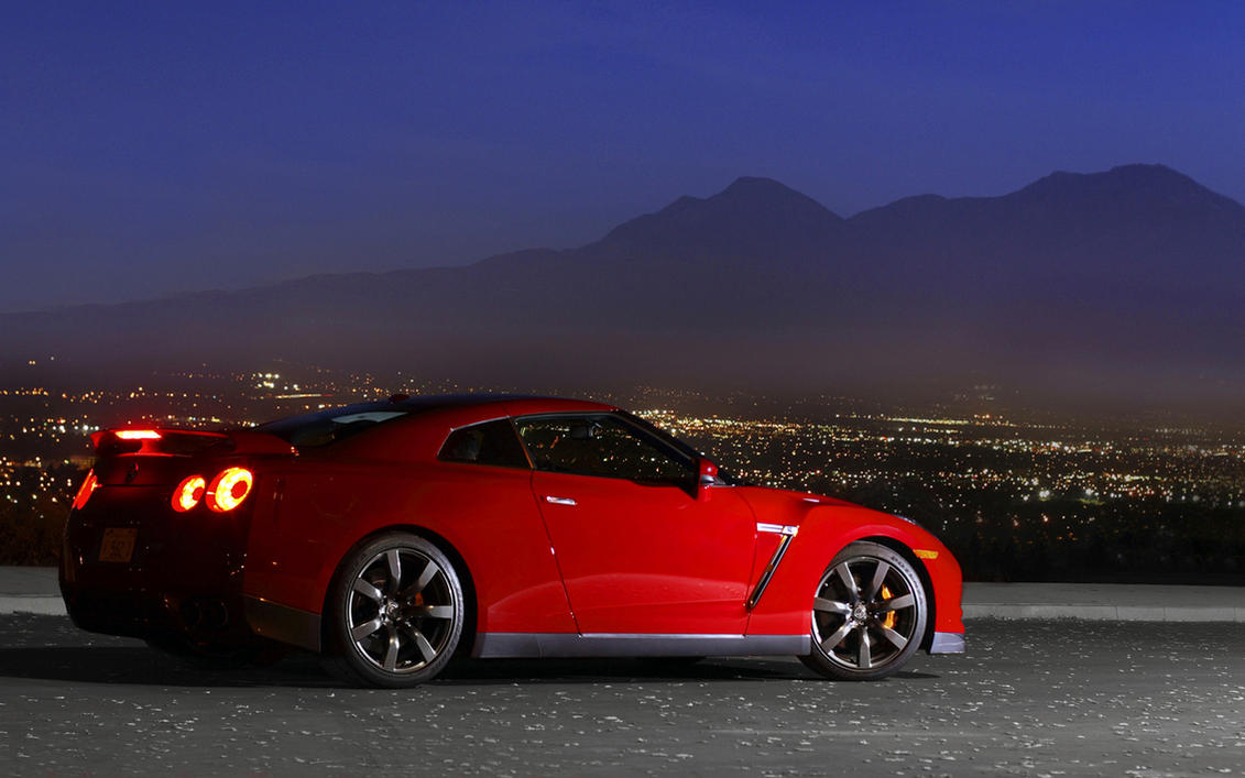Red Nissan GTR by xatzis5000