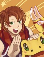 Happy birthday Masarumon! by QuirkiDigital