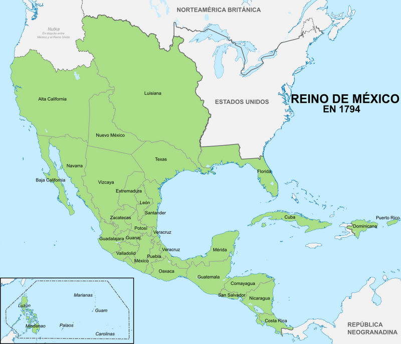 Mexico Map 1794.Alt Kingdom Of Mexico 1794 By Xtwind On Deviantart
