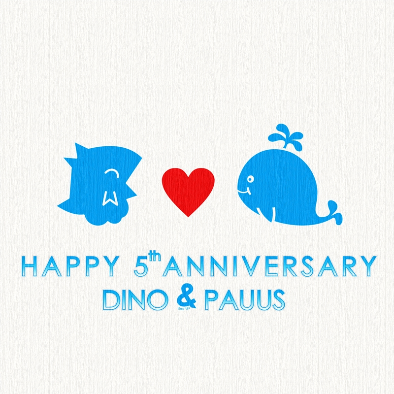 Happy 5th Anniv Dino and Pauus by DinoCacktus