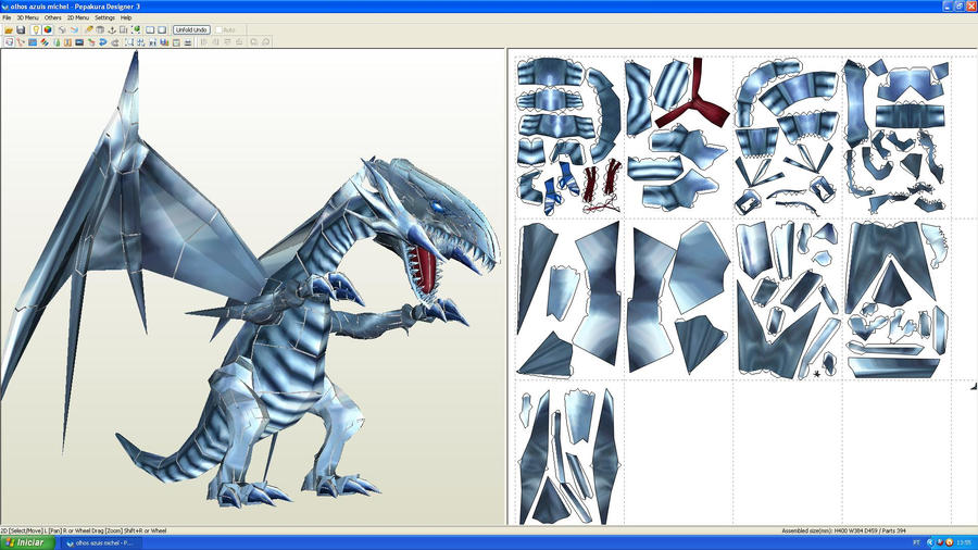 Blue eyes White dragon Paper by MichelCFK