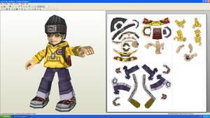 Hiro Digimon World Papercraft