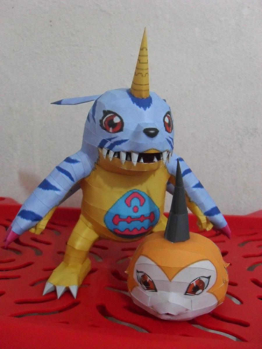 Gabumon and Tsunomon Papercraft by MichelCFK