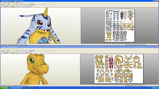 Digimon papercraft