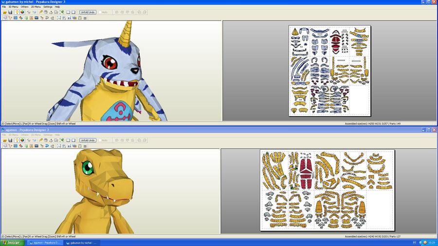 Digimon papercraft by MichelCFK
