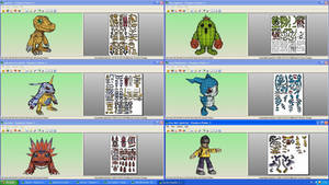 Digimon Collection Papercrafts