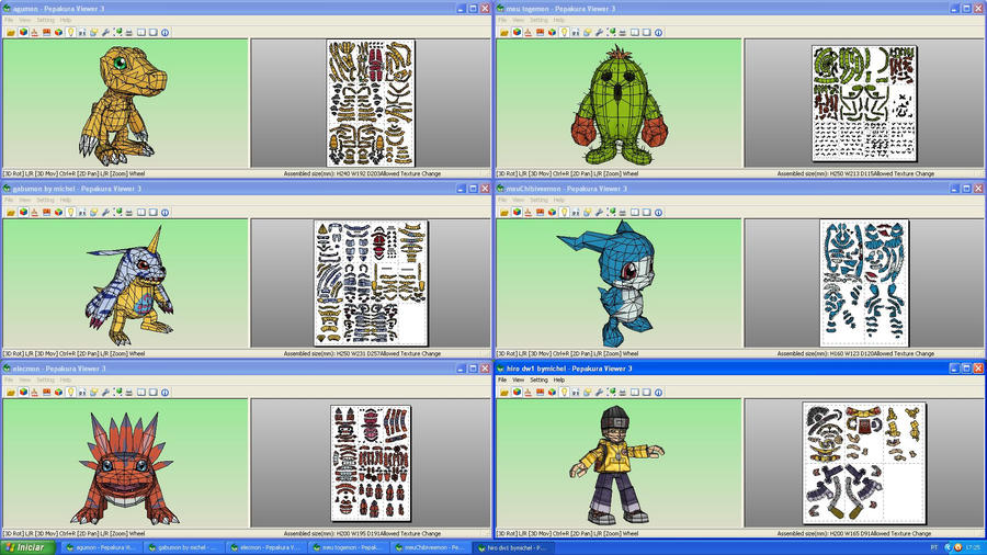 Digimon Collection Papercrafts by MichelCFK