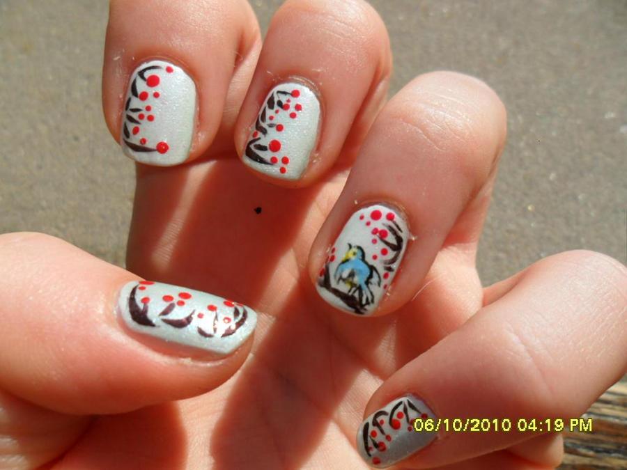 winter berries nail art by elenaeris on DeviantArt
