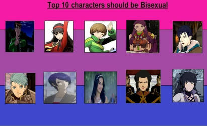 Top 10 Characters should be Bisexual