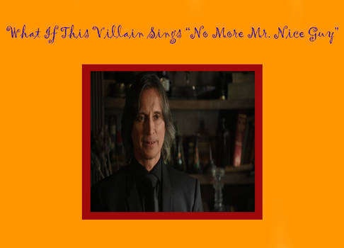 Mr Gold sings No More Mr Nice Guy
