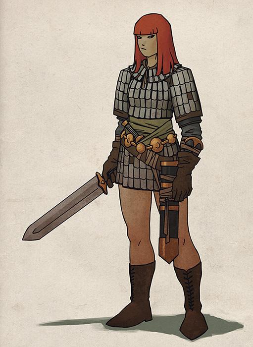 Red Sonja Redesign by DazWatford