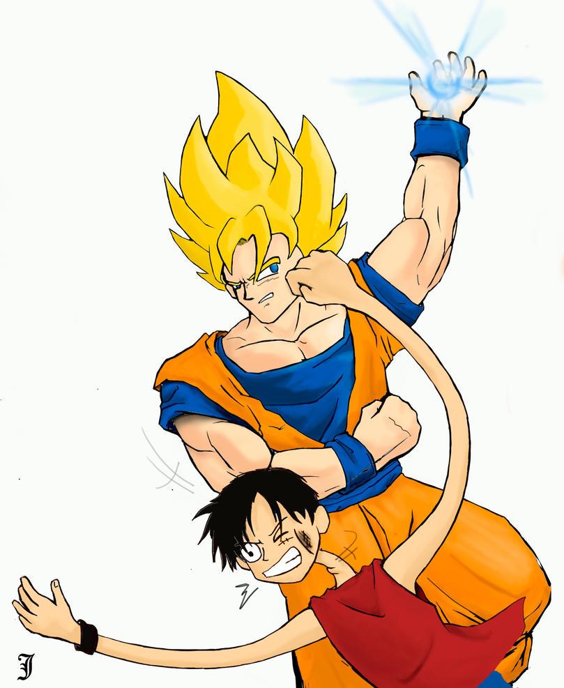 Pin Luffy Vs Goku Meme Center On Pinterest