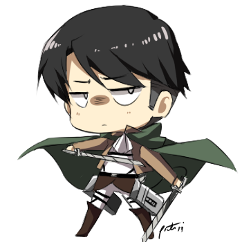 Chibi Levi by PepperMoonFlakes
