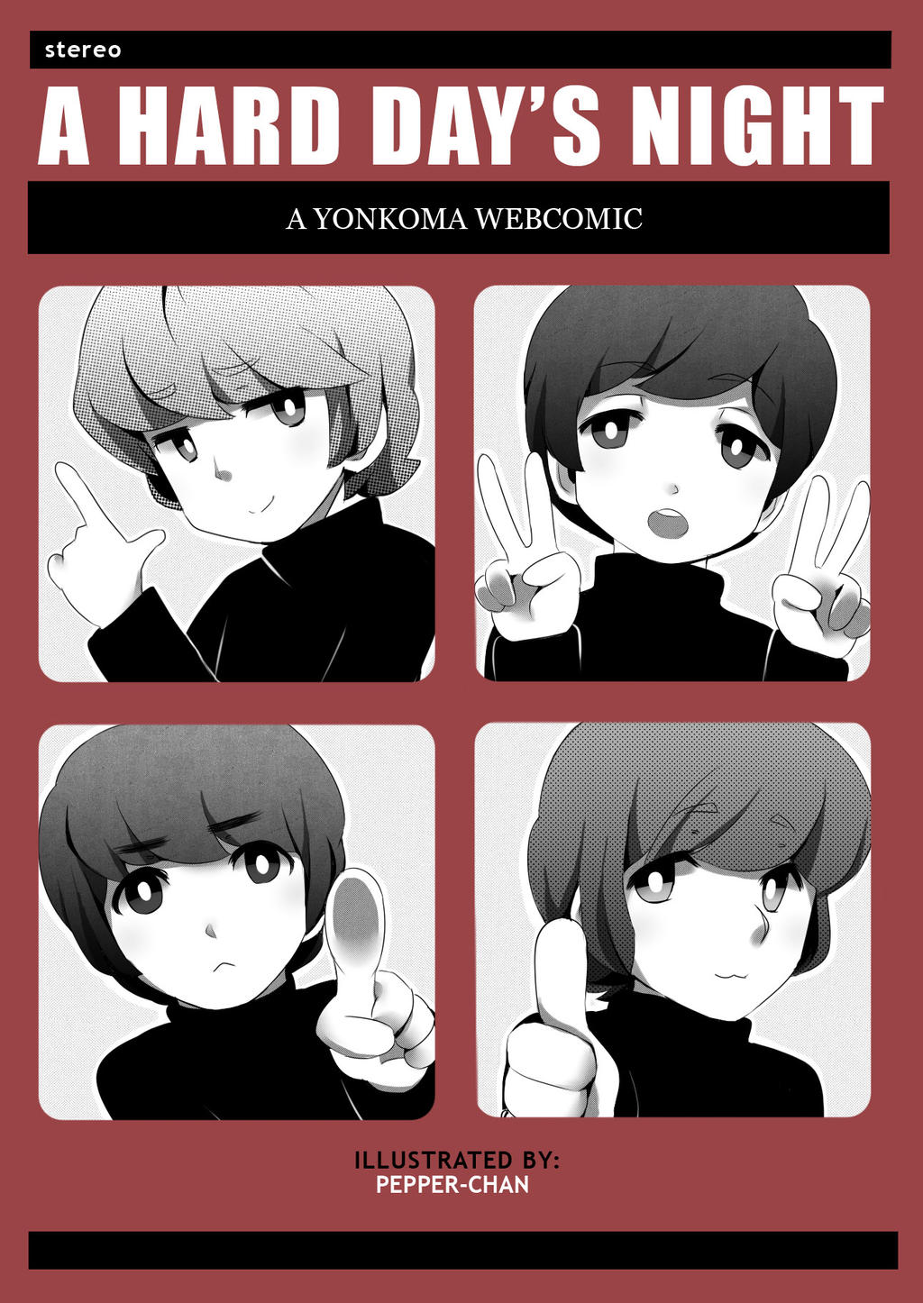 A Hard Day's Night Yonkoma Webcomic Cover by PepperMoonFlakes