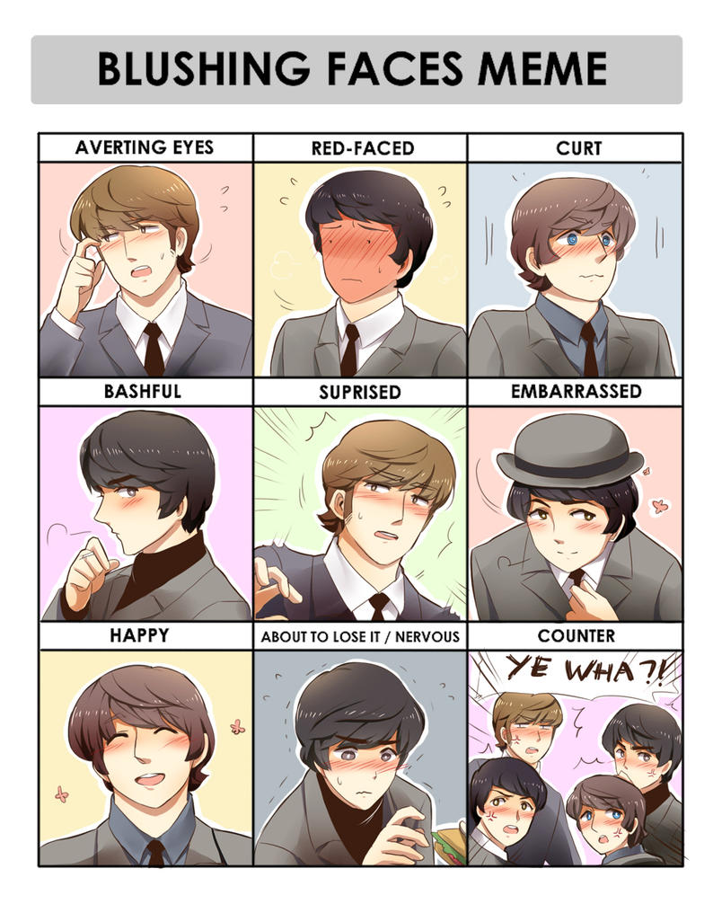 .: Beatles Blushing Meme :. by Radical-Rhombus-XD