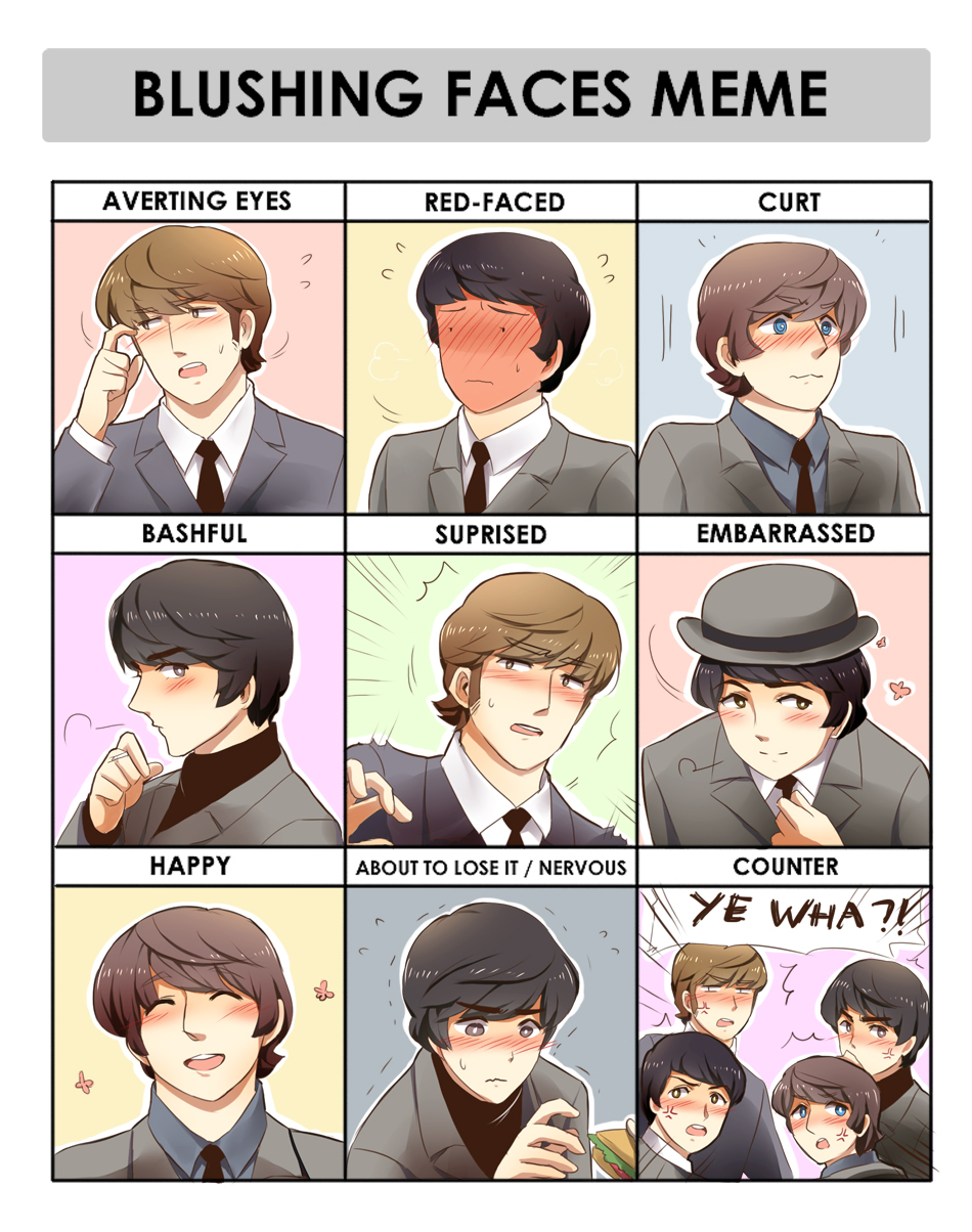 .: Beatles Blushing Meme :. by PepperMoonFlakes
