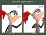 Draw this again meme (Phineas Knight)