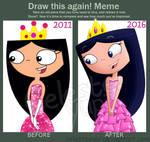 Draw this again meme (Princess Isabella)
