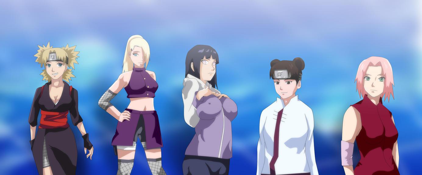 Naruto Shippuden Sakura Ino Tenten Temari Hinata by Mr123GOKU123