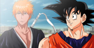 Bleach Ichigo Kurosaki DBZ Goku Crossover Request