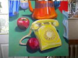 Yellow Telephone by tastydoll