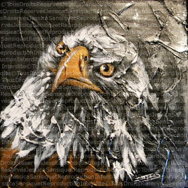 Silver Bald Eagle by JessicaSansiquet
