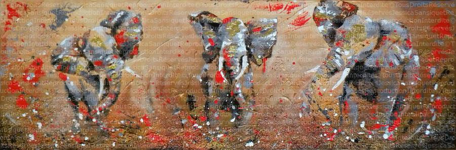 Les trois elephants by JessicaSansiquet