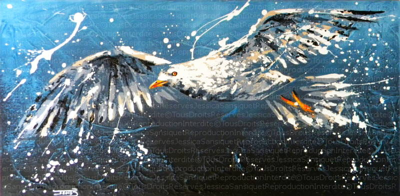 Au dessus des vagues by JessicaSansiquet